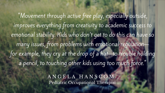 Movement through active free play, especially outside, improves everything from creativity to academic success to emotional stability. Kids who don't get to do this can have so many issues, from problems with emotion.png